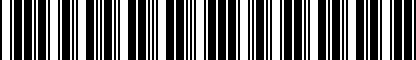 Barcode for 8V0071744